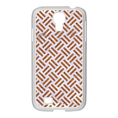 WOVEN2 WHITE MARBLE & RUSTED METAL (R) Samsung GALAXY S4 I9500/ I9505 Case (White)
