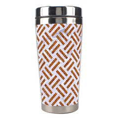 WOVEN2 WHITE MARBLE & RUSTED METAL (R) Stainless Steel Travel Tumblers