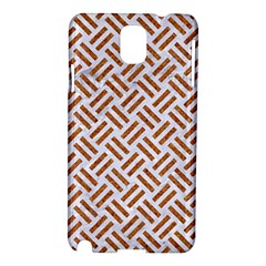 Woven2 White Marble & Rusted Metal (r) Samsung Galaxy Note 3 N9005 Hardshell Case