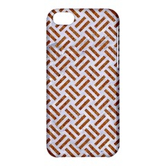 Woven2 White Marble & Rusted Metal (r) Apple Iphone 5c Hardshell Case by trendistuff