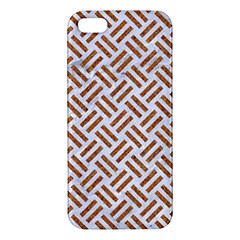 Woven2 White Marble & Rusted Metal (r) Iphone 5s/ Se Premium Hardshell Case