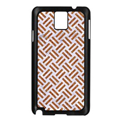 WOVEN2 WHITE MARBLE & RUSTED METAL (R) Samsung Galaxy Note 3 N9005 Case (Black)