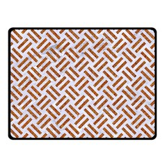 WOVEN2 WHITE MARBLE & RUSTED METAL (R) Double Sided Fleece Blanket (Small)