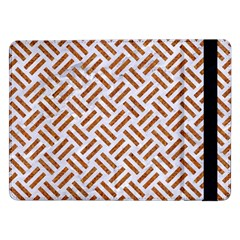 WOVEN2 WHITE MARBLE & RUSTED METAL (R) Samsung Galaxy Tab Pro 12.2  Flip Case