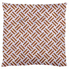 Woven2 White Marble & Rusted Metal (r) Standard Flano Cushion Case (two Sides) by trendistuff