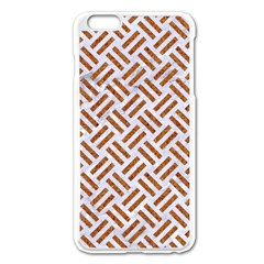 WOVEN2 WHITE MARBLE & RUSTED METAL (R) Apple iPhone 6 Plus/6S Plus Enamel White Case