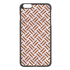 WOVEN2 WHITE MARBLE & RUSTED METAL (R) Apple iPhone 6 Plus/6S Plus Black Enamel Case