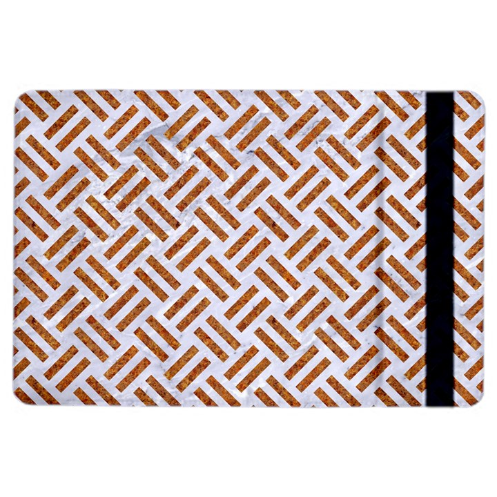 WOVEN2 WHITE MARBLE & RUSTED METAL (R) iPad Air 2 Flip