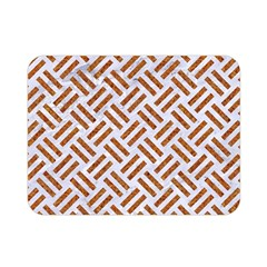 Woven2 White Marble & Rusted Metal (r) Double Sided Flano Blanket (mini)  by trendistuff