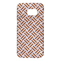 WOVEN2 WHITE MARBLE & RUSTED METAL (R) Samsung Galaxy S7 Edge Hardshell Case