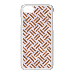 Woven2 White Marble & Rusted Metal (r) Apple Iphone 7 Seamless Case (white) by trendistuff
