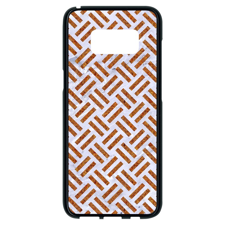 WOVEN2 WHITE MARBLE & RUSTED METAL (R) Samsung Galaxy S8 Black Seamless Case