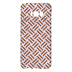 WOVEN2 WHITE MARBLE & RUSTED METAL (R) Samsung Galaxy S8 Plus Hardshell Case