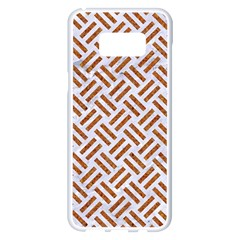 WOVEN2 WHITE MARBLE & RUSTED METAL (R) Samsung Galaxy S8 Plus White Seamless Case