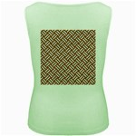 WOVEN2 WHITE MARBLE & RUSTED METAL Women s Green Tank Top Back