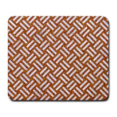 Woven2 White Marble & Rusted Metal Large Mousepads by trendistuff
