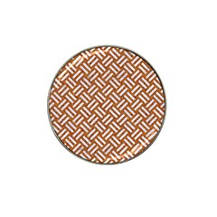 Woven2 White Marble & Rusted Metal Hat Clip Ball Marker (10 Pack) by trendistuff