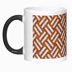 Woven2 White Marble & Rusted Metal Morph Mugs by trendistuff