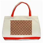 WOVEN2 WHITE MARBLE & RUSTED METAL Classic Tote Bag (Red) Front