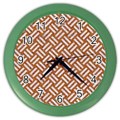Woven2 White Marble & Rusted Metal Color Wall Clocks