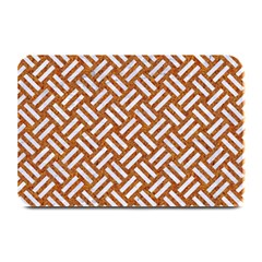 Woven2 White Marble & Rusted Metal Plate Mats by trendistuff