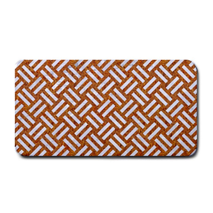 WOVEN2 WHITE MARBLE & RUSTED METAL Medium Bar Mats