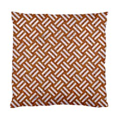 Woven2 White Marble & Rusted Metal Standard Cushion Case (one Side) by trendistuff