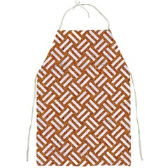 Woven2 White Marble & Rusted Metal Full Print Aprons by trendistuff