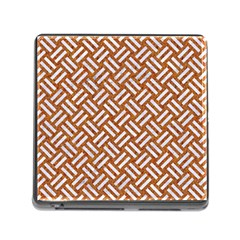 Woven2 White Marble & Rusted Metal Memory Card Reader (square) by trendistuff