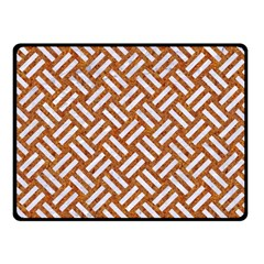 Woven2 White Marble & Rusted Metal Fleece Blanket (small) by trendistuff