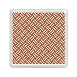 WOVEN2 WHITE MARBLE & RUSTED METAL Memory Card Reader (Square)  Front