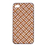 WOVEN2 WHITE MARBLE & RUSTED METAL Apple iPhone 4/4s Seamless Case (Black) Front