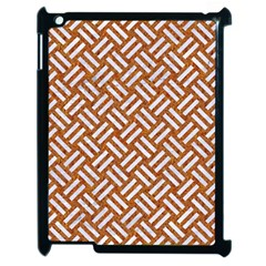 Woven2 White Marble & Rusted Metal Apple Ipad 2 Case (black)
