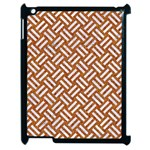 WOVEN2 WHITE MARBLE & RUSTED METAL Apple iPad 2 Case (Black) Front