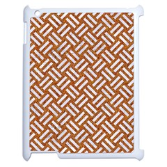 Woven2 White Marble & Rusted Metal Apple Ipad 2 Case (white) by trendistuff