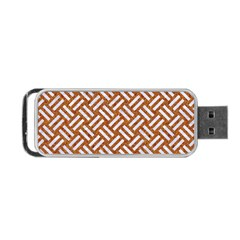 Woven2 White Marble & Rusted Metal Portable Usb Flash (two Sides) by trendistuff