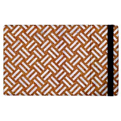 Woven2 White Marble & Rusted Metal Apple Ipad 2 Flip Case by trendistuff
