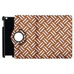WOVEN2 WHITE MARBLE & RUSTED METAL Apple iPad 3/4 Flip 360 Case Front