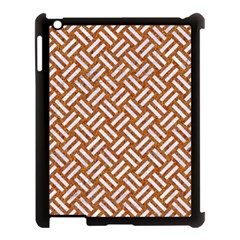 Woven2 White Marble & Rusted Metal Apple Ipad 3/4 Case (black) by trendistuff