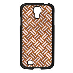 Woven2 White Marble & Rusted Metal Samsung Galaxy S4 I9500/ I9505 Case (black) by trendistuff