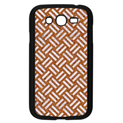 Woven2 White Marble & Rusted Metal Samsung Galaxy Grand Duos I9082 Case (black) by trendistuff