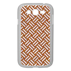 Woven2 White Marble & Rusted Metal Samsung Galaxy Grand Duos I9082 Case (white) by trendistuff