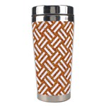 WOVEN2 WHITE MARBLE & RUSTED METAL Stainless Steel Travel Tumblers Right