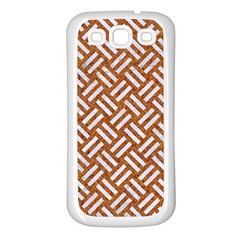 Woven2 White Marble & Rusted Metal Samsung Galaxy S3 Back Case (white) by trendistuff