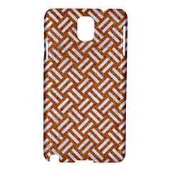 Woven2 White Marble & Rusted Metal Samsung Galaxy Note 3 N9005 Hardshell Case by trendistuff