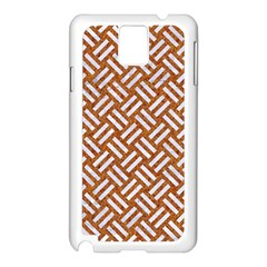 Woven2 White Marble & Rusted Metal Samsung Galaxy Note 3 N9005 Case (white) by trendistuff
