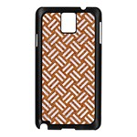WOVEN2 WHITE MARBLE & RUSTED METAL Samsung Galaxy Note 3 N9005 Case (Black) Front