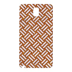 Woven2 White Marble & Rusted Metal Samsung Galaxy Note 3 N9005 Hardshell Back Case by trendistuff