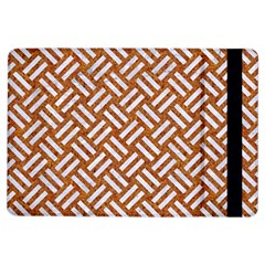 Woven2 White Marble & Rusted Metal Ipad Air Flip by trendistuff