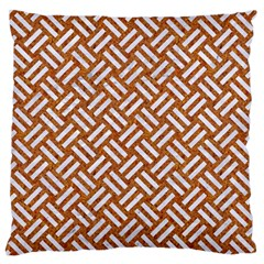 Woven2 White Marble & Rusted Metal Standard Flano Cushion Case (two Sides) by trendistuff